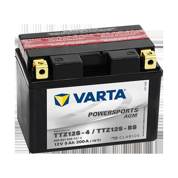 BATERIE MOTO VARTA POWERSPORTS FRESHPACK 7Ah 507 013 004