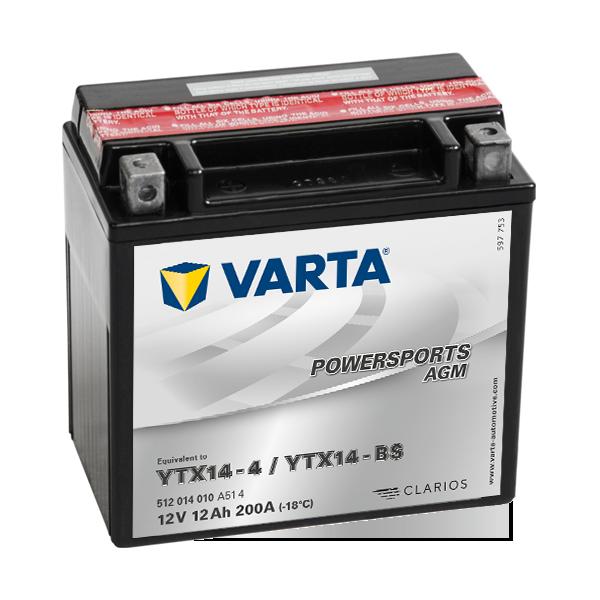 BATERIE MOTO VARTA POWERSPORTS AGM 14Ah 514 901 022